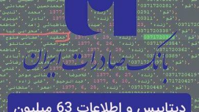 Photo of دیتابیس و اطلاعات 63 میلیون حساب بانک صادرات