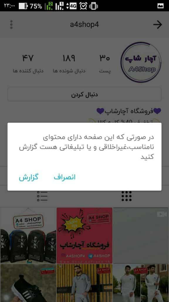ریپورت صفحه در روبینو