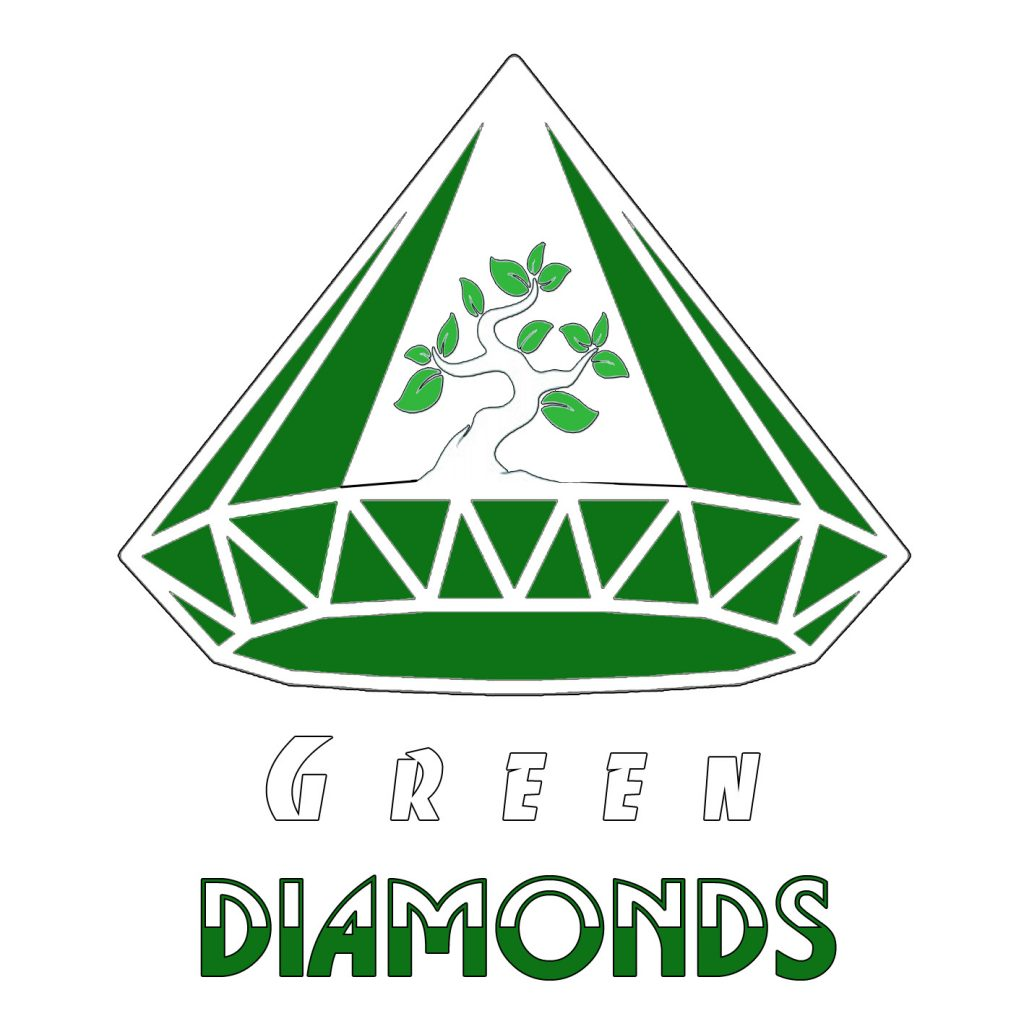 طراحی لوگو گلخانه الماس سبز