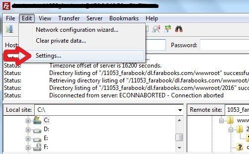 خطای file transfer failed