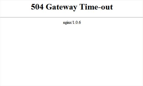 رفع خطا های 504
