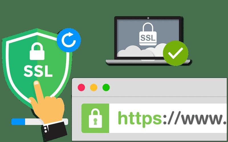 آموزش فعال سازی گواهی SSL