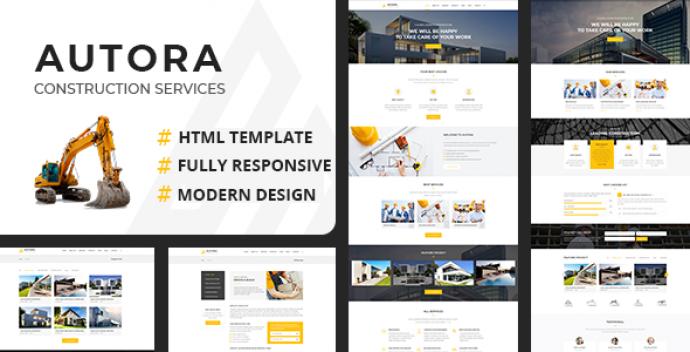 دانلود قالب HTML شرکتی Autora