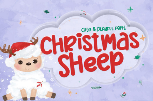دانلود فونت کریسمس شیپ Christmas Sheep