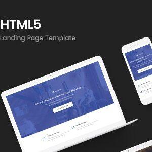 دانلود قالب HTML لندینگ پیج Manto