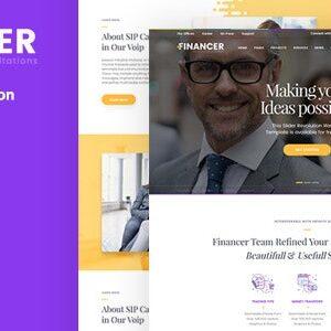دانلود قالب HTML مشاوره Financer