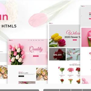 دانلود قالب HTML فروشگاه گل FloSun