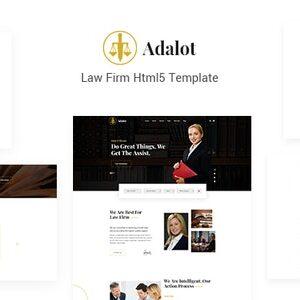 دانلود قالب HTML وکالت Adalot
