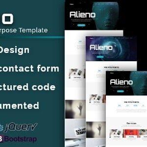 دانلود قالب HTML تک صفحه ای Alieno