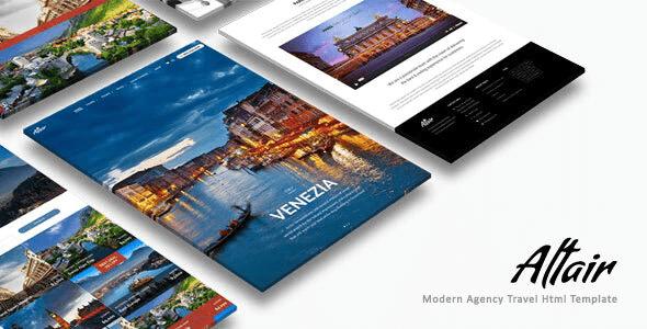 دانلود قالب HTML سفر و گردشگری Altair