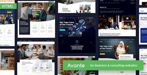 دانلود قالب HTML شرکتی Avante