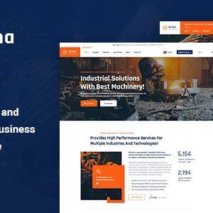دانلود قالب HTML صنعتی Axima