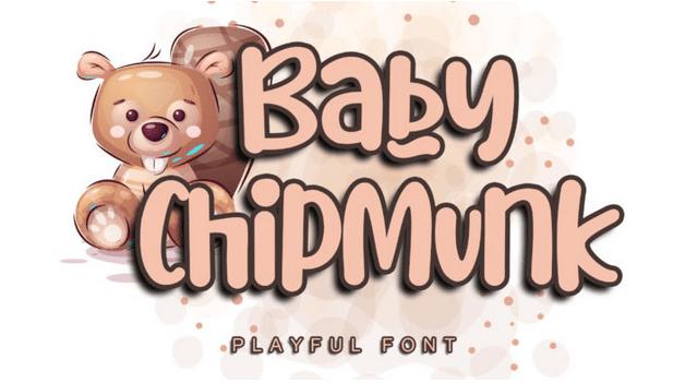 دانلود فونت بیبی چیپ مانک Baby Chipmunk