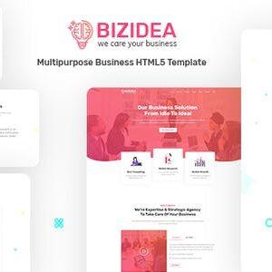 دانلود قالب HTML شرکتی Bizidea