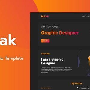 دانلود قالب HTML نمونه کار Bleak