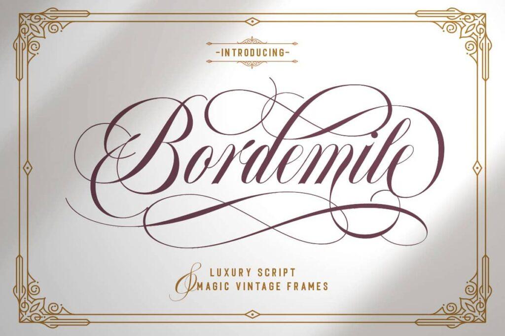 دانلود فونت بردمایل Bordemile