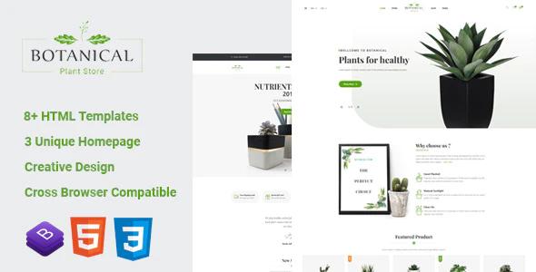 دانلود قالب HTML فروشگاهی Botanical