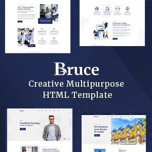 دانلود قالب HTML چند منظوره Bruce