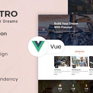 دانلود قالب HTML ساختمانی Castro