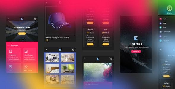 دانلود قالب HTML موبایلی Colora