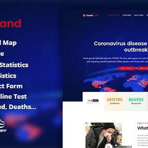 دانلود قالب HTML پزشکی CovidLand