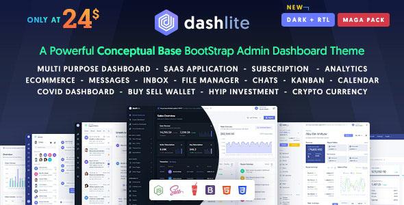 دانلود قالب HTML صفحه مدیریت DashLite