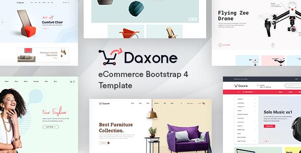 دانلود قالب HTML فروشگاهی Daxone