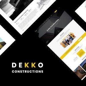 دانلود قالب HTML ساختمانی Dekko