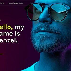 دانلود قالب HTML تک صفحه ای Denzel