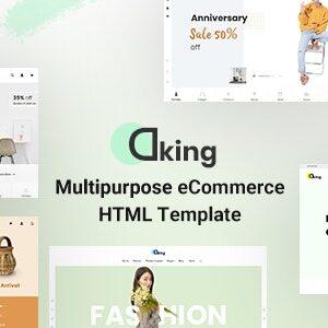 دانلود قالب HTML چندمنظوره Dking