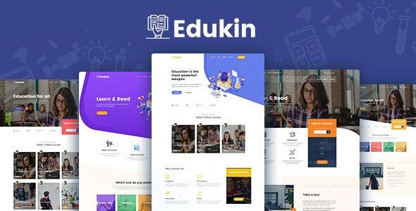 دانلود قالب HTML آموزشی Edukin