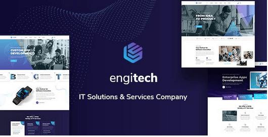 دانلود قالب HTML خدمات کامپیوتر Engitech