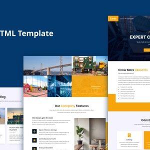 دانلود قالب HTML ساختمانی Exroz
