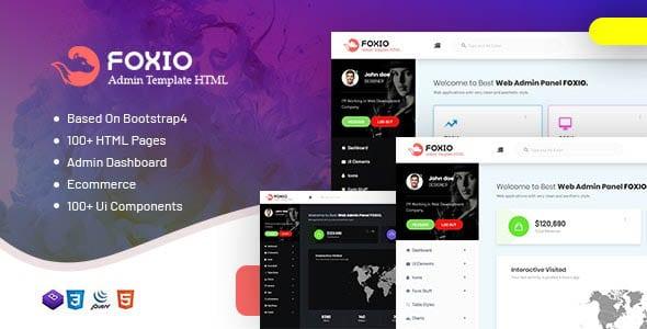 دانلود قالب HTML مدیریتی Foxio