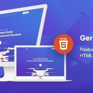 دانلود قالب HTML لندینگ پیج Gerko