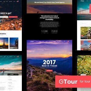 دانلود قالب HTML تور و گردشگری Grand Tour