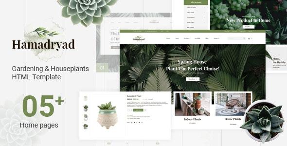 دانلود قالب HTML گل و گیاه Hamadryad