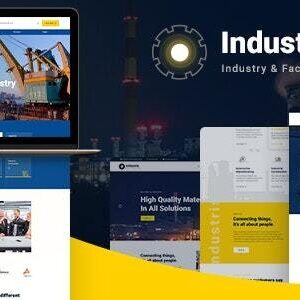 دانلود قالب HTML صنعتی Industris