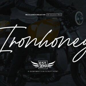 دانلود فونت ایرون هانی Ironhoney Signature