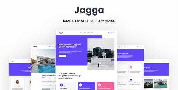 دانلود قالب HTML املاک Jagga
