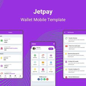 دانلود قالب HTML کیف پول موبایل Jetpay