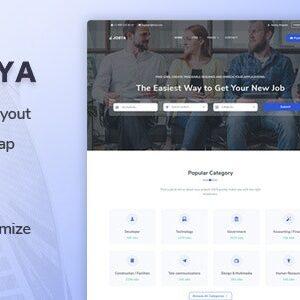 دانلود قالب HTML دایرکتوری Jobya