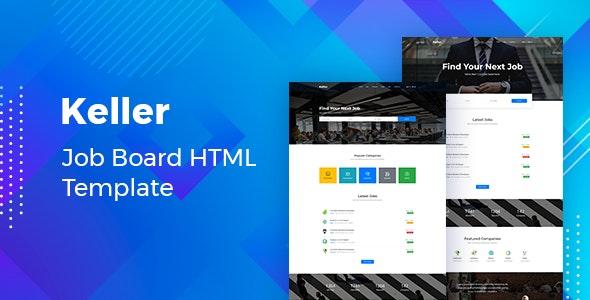 دانلود قالب HTML آگهی استخدام Keller