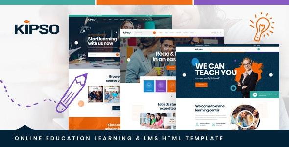 دانلود قالب HTML آموزش آنلاین Kipso