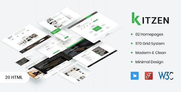 دانلود قالب HTML آشپزخانه Kitzen