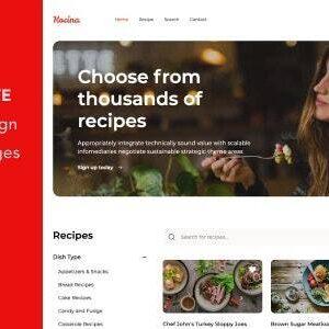 دانلود قالب HTML آموزش آشپزی Kocina