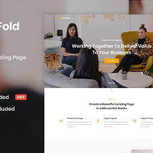 دانلود قالب HTML لندینگ پیج LeadFold