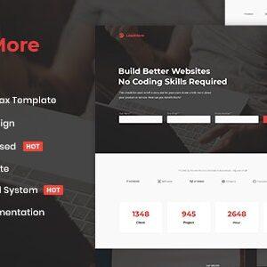 دانلود قالب HTML لندینگ پیج LeadMore