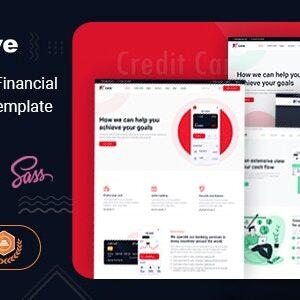 دانلود قالب HTML خدمات مالی Leve