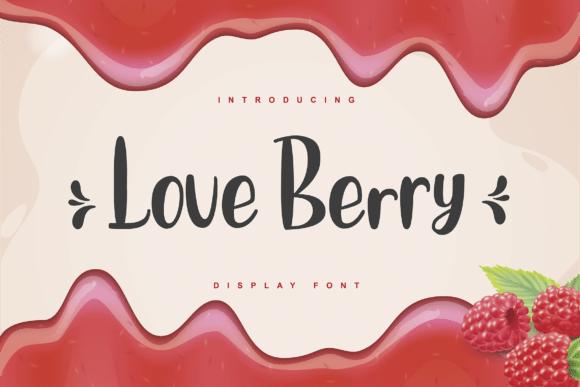 دانلود فونت عاشقانه لاو بری Love Berry